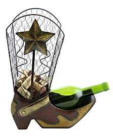 Cowboy Boot Cork and Bottle Holder
