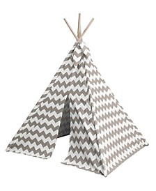 Toy Tent TeePee Canvas with Wood Poles