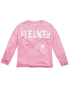 Max & Olivia Little & Big Girls Dreamer-Print Pajama Top, Created For Macy's