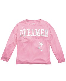 Max & Olivia Little & Big Girls Dreamer-Print Pajama Top, Created For Macy's
