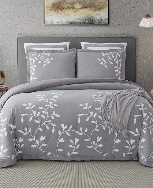 Cathay Home Inc. Laurel Park Autumn Chain Emb Cotton Full Comforter Set