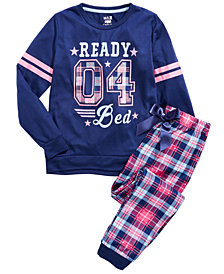 Max & Olivia Little & Big Girls 2-Pc. Ready For Bed Pajamas Set