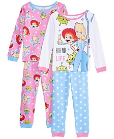 AME Toddler Girls 4-Pc. Cotton Toy Story Pajamas Set