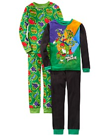 AME Little & Big Boys 4-Pc. Cotton Teenage Mutant Teenage Ninjas Pajamas Set