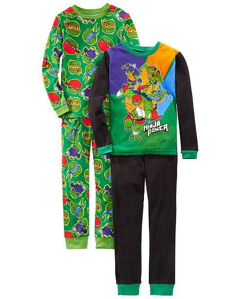 AME Little & Big Boys 4-Pc. Cotton Teenage Mutant Teenage Ninjas Pajamas Set