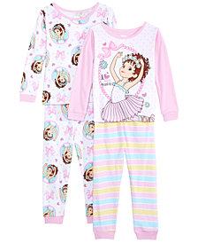 AME Toddler Girls 4-Pc. Cotton Fancy Nancy Pajamas Set