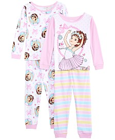 AME Toddler Girls 4-Pc. Cotton Fancy Nancy Pajamas Set