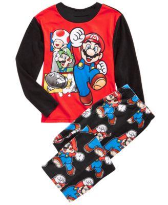 Mario Little /& Big Boys Long Sleeve Tee