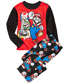 AME Little & Big Boys 2-Pc. Super Mario Fleece Pajamas Set