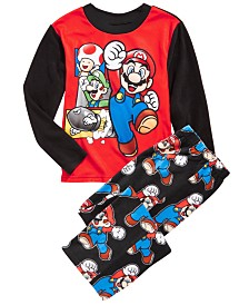 AME Little & Big Boys 2-Pc. Super Mario Fleece Pajamas Set