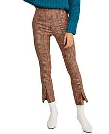 Flyin' High Plaid-Print Capri Pants