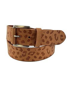 e40bd840c Fashion Focus Accessories Leopard-Print Embossed Casual Leather Belt