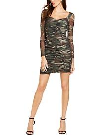 Juniors' Camouflage-Print Bodycon Dress