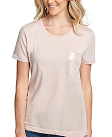 DKNY Sequin-Trim Crewneck T-Shirt