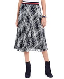 Tommy Hilfiger Plaid Pleated Skirt