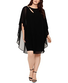XSCAPE Plus Size Overlay Dress