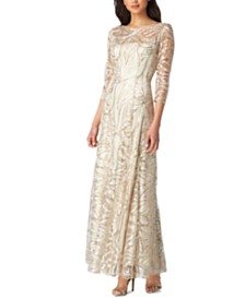 Tahari ASL Embellished Sequin Gown