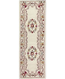 "KM Home Palace Garden Aubusson Cream 2'6"" x 8' Runner Area Rug"