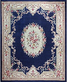 CLOSEOUT!  Palace Garden Aubusson Dark Blue 5' x 8' Area Rug