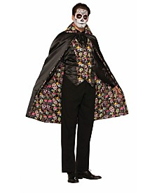 BuySeasons Adult Day of The Dead Cape