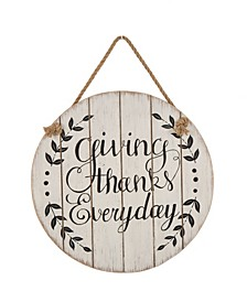 Wooden Thanksgiving Wall Sign