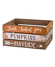 S/2 Wooden Pumpkin Crate