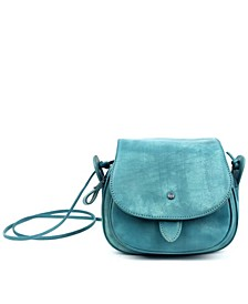 Sun Flower Leather Crossbody Bag