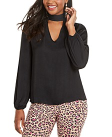 Mock-Neck Cutout Top, Created for Macy's