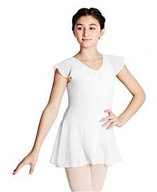 Little and Big Girls Flutter Sleeve Dress