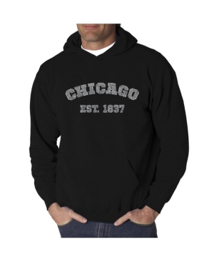La Pop Art Men's Word Art Hooded Sweatshirt - Chicago 1837