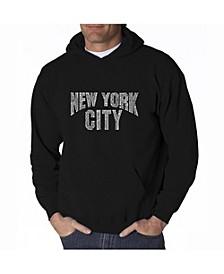 Men's Word Art Hoodie - New York City Neighborhoods