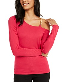 Asymmetric Chain-Link Top, Created for Macy's
