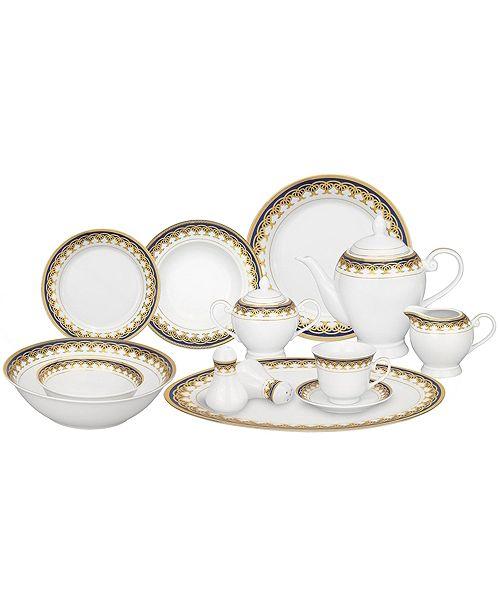 Lorren Home Trends Iris 24-Pc. Dinnerware Set, Service for 4