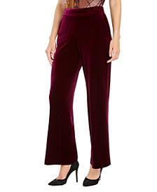 Pull-On Velvet Pants