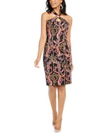 Thalia Sodi Printed Halter Ring Dress, Created for Macy's