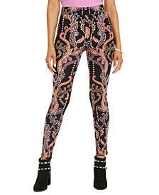Thalia Sodi Printed Pull-On Leggings, Created for Macy's