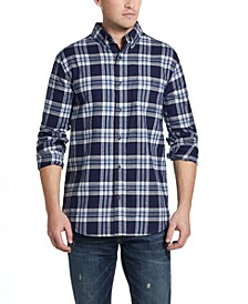 Men's Brushed Antique Flannel Plaid Shirt