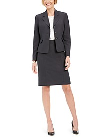 Notched-Collar Skirt Suit