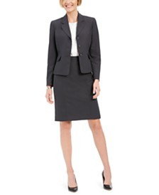 Le Suit Notched-Collar Skirt Suit
