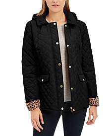 Petite Quilted Hooded Jacket