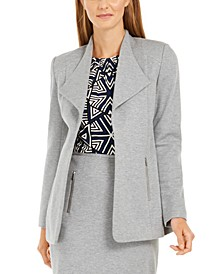 Open-Front Wing-Collar Blazer