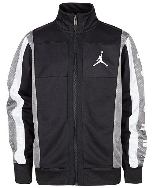 Jordan Big Boys Colorblocked Mesh-Trim Tricot Jacket
