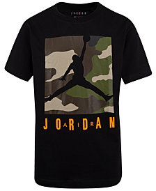 Jordan Big Boys Camouflage Box Knock Out Graphic T-Shirt