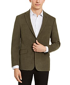 Men's Slim-Fit Stretch Faux-Suede Sport Coat