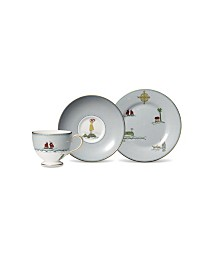 "Wedgwood Sailors Farewell 3-Piece Tea Set (Teacup, Saucer & Salad Plate 8"")"