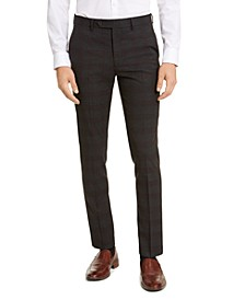 Men's Skinny-Fit Infinite Stretch Plaid Dress Pants