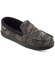 Men's Camo Faux-Suede Moccasins with Memory Foam