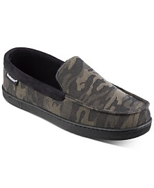Isotoner Signature Men's Camo Faux-Suede Moccasins with Memory Foam