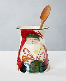 Vietri Old St. Nick Utensil Holder, Created For Macy's