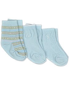 Baby Boys 3-Pk. Fair Isle Crew Socks